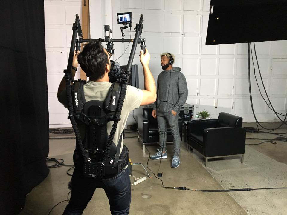 Our movi operator capturing Odell Beckham Jr. behind the scenes waiting to surprise his fans